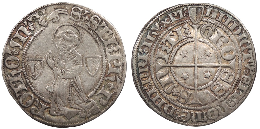 World Coins - FRANCE City of Metz 14th-16th Centuries Gros Good VF