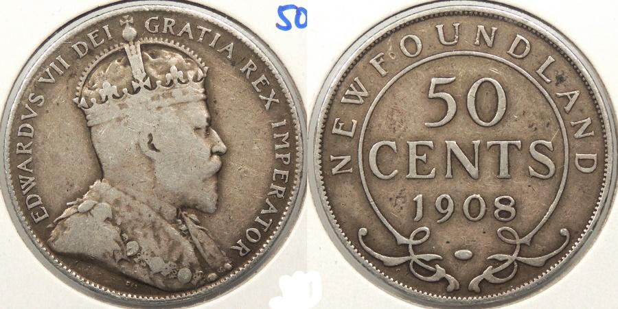 World Coins - CANADA: Newfoundland 1909 50 Cents
