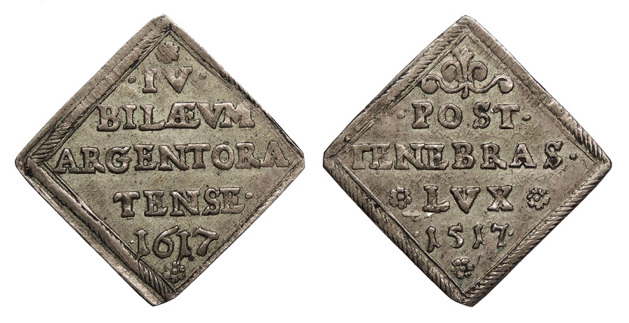World Coins - GERMAN STATES Strassburg 1617 Medallic Klippe Ducat EF
