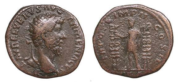 Ancient Coins - Lucius Verus 161-169 A.D. Dupondius Rome Mint Near VF