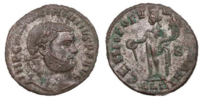 Ancient Coins - Maximianus 286-305 A.D. Follis Alexandria Mint EF