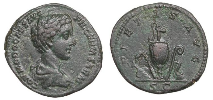 Ancient Coins - Commodus, as Caesar 166-177 A.D. As Rome Mint Good VF