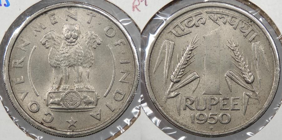 World Coins - INDIA: 1950 (b) Rupee