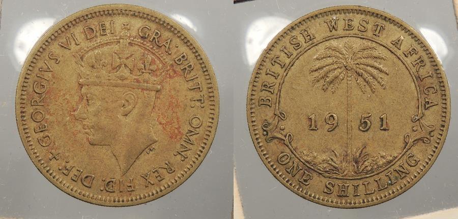 World Coins - BRITISH WEST AFRICA: 1951 George VI Shilling