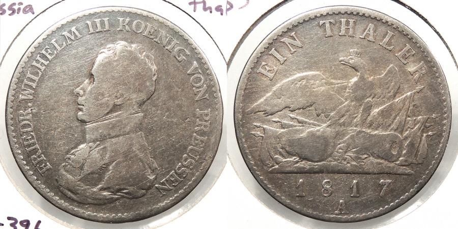 World Coins - GERMAN STATES: Prussia 1817-A Thaler