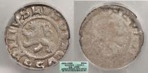 World Coins - BOHEMIA: ND (1516-1526) Uniface type. Ludwig II, Kuttenberg mint. Weisspfenning ICG VF-25