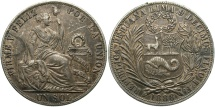 World Coins - PERU: 1888 TF 1 Sol