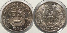 World Coins - VENEZUELA: 1938 5 Centimos