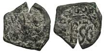 Ancient Coins - Heraclius 610-641 AD Follis Sicily countermark EF
