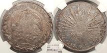World Coins - MEXICO 1852-Mo GC 8 Reales NGC AU-55