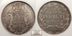 World Coins - GERMAN STATES Saxe-Gotha-Altenburg Friedrich III 1755 1/24 Thaler (Groschen) NGC MS-62