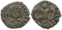 Ancient Coins - Theophilus 829-842 A.D. Follis Syracuse Mint VF