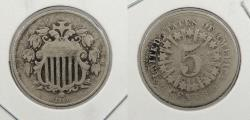 Us Coins - 1866 Shield 5 Cent (Nickel) With rays