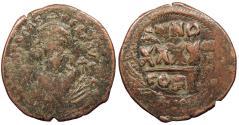 Ancient Coins - Phocas 602-610 A.D. Follis Constantinople Mint Good Fine