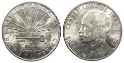 World Coins - CUBA 1953 Peso BU