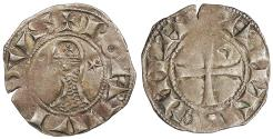 World Coins - CRUSADERS Antioch  Bohemund III 1163-1201 Denier   EF