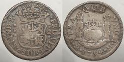World Coins - MEXICO: 1754-Mo 2 Reales