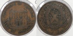 World Coins - CANADA: Lower Canada 1842 Halfpenny (Sou) Token
