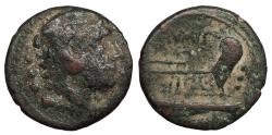 Ancient Coins - Q. Caecilius Metellus 130 B.C. Quadrans Rome Mint About Fine
