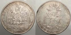 World Coins - MEXICO: Republic 1871-Zs H Zacatecas Peso