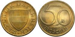 World Coins - AUSTRIA: 1967 50 Groschen