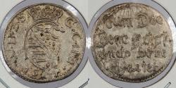World Coins - GERMAN STATES: Saxe-Weimar 1654 Rebuilding Weimar Palace. 3 Pfennig (Drier)