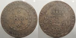 World Coins - BRAZIL: 1829-R 80 Reis