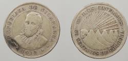 World Coins - NICARAGUA: 1912-H 50 Centavos