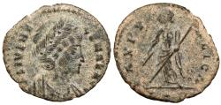 Ancient Coins - Helena, mother of Constantine I 324-330 A.D. Follis Constantinople Mint Near VF