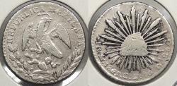 World Coins - MEXICO: 1861-Mo GH Real