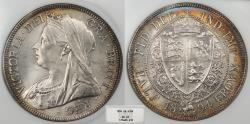 World Coins - GREAT BRITAIN Victoria 1894 Halfcrown NGC MS-63
