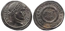 Ancient Coins - Constantine I, the Great 307-337 A.D. Follis Aquileia Mint EF