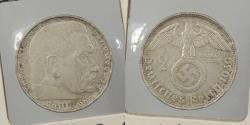 World Coins - GERMANY: 1939-G Hindenburg. 2 Mark