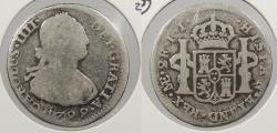 World Coins - PERU: 1799-LIMAE IJ Charles IV 2 Reales