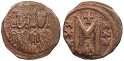Ancient Coins - Leo V, the Armenian 813-820 A.D. Follis Constantinople Mint VF