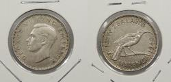 World Coins - NEW ZEALAND: 1940 George VI Sixpence