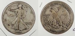 Us Coins - 1917 Walking Liberty 50 Cents (Half Dollar)