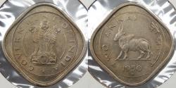 World Coins - INDIA: 1950(b) 2 Annas
