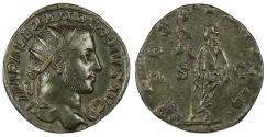Ancient Coins - Severus Alexander 222-235 A.D. Dupondius Rome Mint EF