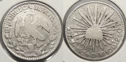 World Coins - MEXICO: Zacatecas 1854/3/2 ? -Zs OM Real