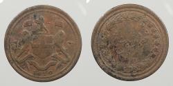 World Coins - MALAY PENINSULA: Penang 1810 British East Indies 1/2 Cent