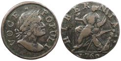 Us Coins - 1760 Voce Populi Halfpenny Colonial Coinage EF