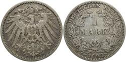World Coins - GERMANY: 1893-E 1 Mark