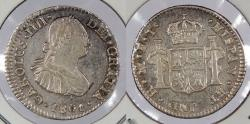 World Coins - MEXICO: 1801-Mo FT 1/2 Real