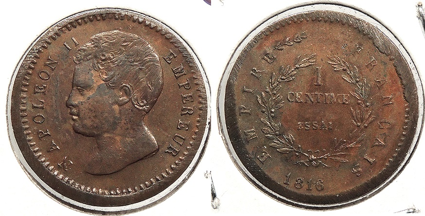 World Coins - FRANCE: 1816 Napoleon II essai Essai Centime