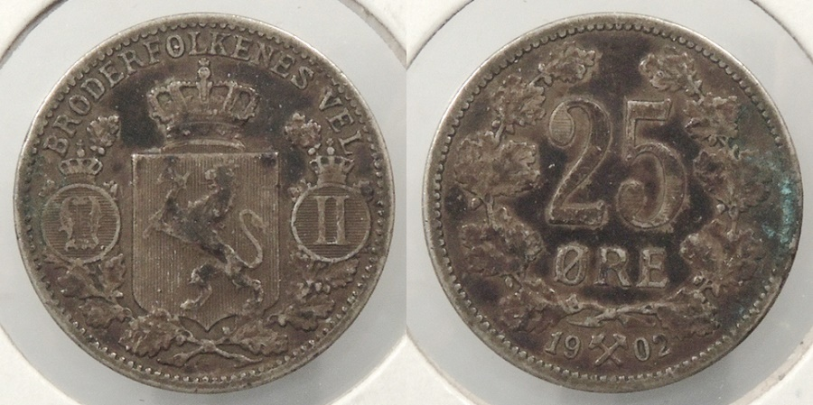 World Coins - NORWAY: 1902 25 Ore