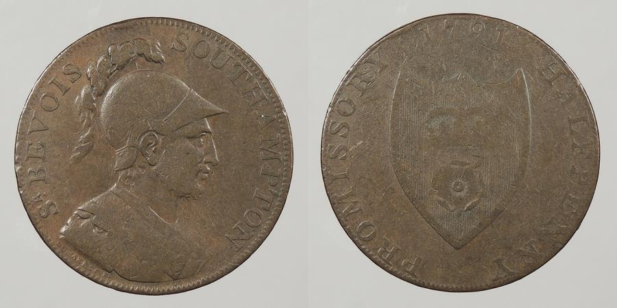 World Coins - GREAT BRITAIN: 1791 Southampton. Halfpenny Conder Token