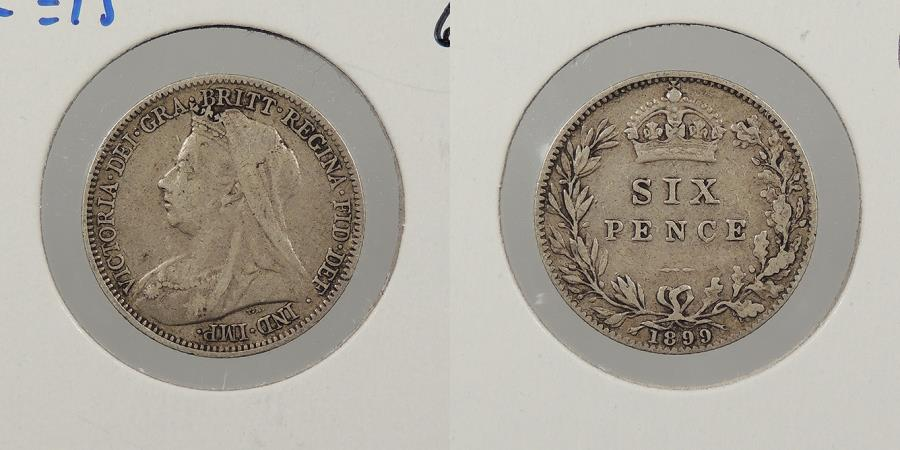 World Coins - GREAT BRITAIN: 1899 Sixpence