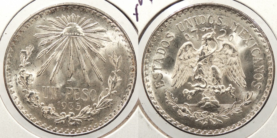 World Coins - MEXICO: 1935-M Peso