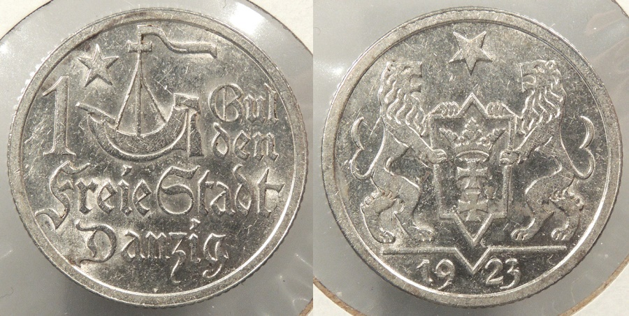 World Coins - DANZIG: 1923 Gulden